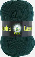 Пряжа Кассандра Cassandra Vita, № 3605, т. зеленый