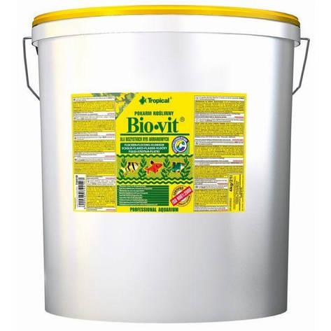 Tropical Bio Vit (21л / 4кг) - растительный корм в хлопьях для аквариумных рыб, фото 2