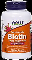 БАД Биотин, Biotin, Now Foods, 10000 мкг, 120 капсул