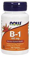 БАД Тиамин, Витамин В1, B-1, Now Foods, 100 мг, 100 таблеток
