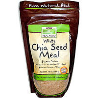 БАД Cемена Чиа, Chia Seed Meal, Now Foods, белые, 284 грамм