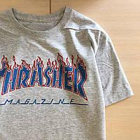 Футболка Thrasher Flame. Реальные фото | Трешер Футболка