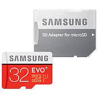 Карта памяти Samsung EVO+microSD 32GB Class (10) (адаптер)