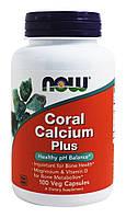 БАД Коралловый кальций плюс, Coral Calcium, Now Foods, 100 капсул