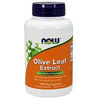 БАД Листья оливы (Olive Leaf), Now Foods, экстракт, 100 капсул