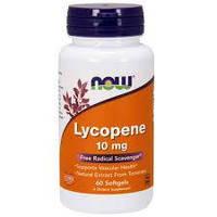 БАД Ликопин (Lycopene), Now Foods, 10 мг, 60 гелевых капсул