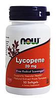 БАД Ликопин (Lycopene), Now Foods, 20 мг, 50 гелевых капсул