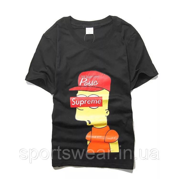 Купить Футболка Supreme Bart Simpson | Футболка Суприм Барт Симпсон №14 В стиле Supreme
