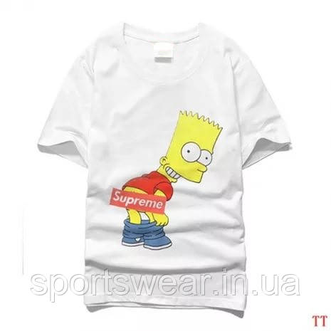 Купить Футболка Supreme Bart Simpson | Футболка Суприм Барт Симпсон №15 В стиле Supreme
