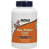БАД Пчелиная пыльца, перга, Bee Pollen, Now Foods, 500 мг, 250 капсул