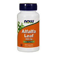 БАД Альфальфа, люцерна, Alfalfa Leaf, Now Foods, 500 мг, 100 капсул