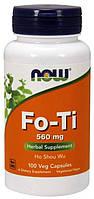 БАД Горец многоцветковый, Fo-Ti, Now Foods, 560 мг, 100 капсул