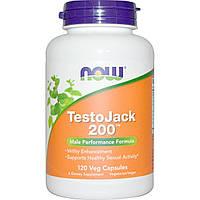 БАД Репродуктивное здоровье мужчин, TestoJack 200, Now Foods, 120 кап.
