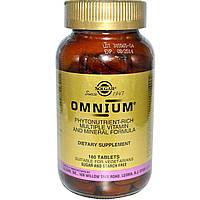БАД Омниум, мультивитамины и минералы, Omnium, Solgar, 180 табл