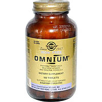 БАД Мультивитамины и минералы, омниум, Omnium, Solgar, 100 табл