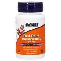 БАД Красное пальмовое масло, Red Palm Tocotrienols, Now Foods, 50 мг, 60 капсул