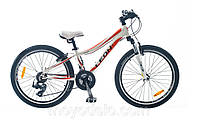 Велосипед спортивный LEON JENNIFER (бело-оранжевый)
