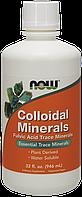 БАД Коллоидные минералы, Colloidal Minerals, Now Foods, 946 мл.