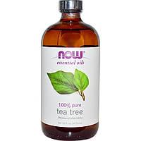 БАД Масло чайного дерева, Tea Tree, Now Foods, Essential Oils, 473 мл.