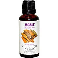 БАД  Кассия эфирное масло корицы (Cinnamon Cassia), Now Foods, 30 мл