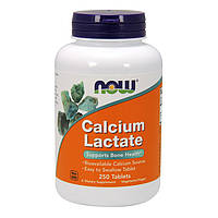 БАД  Кальций лактат, Calcium Lactate, Now Foods, 250 таб.