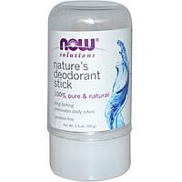 БАД Кристалл дезодорант для тела, Deodorant Stick, Now Foods, Solutions, 99 г.