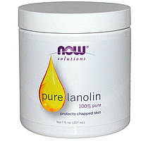 БАД Ланолин, Pure Lanolin, Now Foods, Solutions, 207 мл