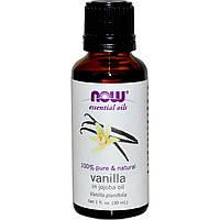 БАД Эфирное масло ванили и жожоба (Vanilla, Jojoba Oil), Now Foods, Essential Oils, 30 мл