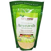 БАД Зерно амаранта цельное, Amaranth Whole Grain, Now Foods, органик, 454 г