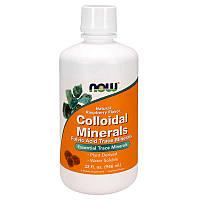БАД Коллоидные минералы с малиной, Colloidal Minerals, Now Foods, 946 мл.