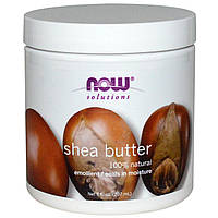 БАД Масло ши, Shea Butter, Now Foods, Solutions, 207 мл