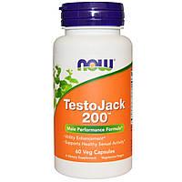 БАД Репродуктивное здоровье мужчин, TestoJack 200, Now Foods, 60 капс.