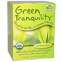 БАД Зеленый чай без кофеина с миртом, Tea Green, Now Foods, Real Tea, органик, 24 пак. (43 г.)