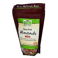 БАД Миндальные орехи (жареные), Almonds, Now Foods, 454 г