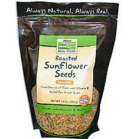 БАД Семена подсолнечника (жареные), Sunflower Seeds, Now Foods, 454