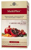 БАД Витамины для сердца, MultiPlus, Cardio Health,  Solgar, 90 таблеток