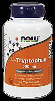 БАД Триптофан, L-Tryptophan, Now Foods, 500 мг, 60 капсул