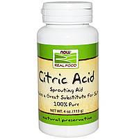 БАД Лимонная кислота, Citric Acid, Now Foods, 113 г