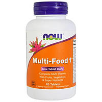 БАД Мультивитамины, Multi-Food 1, Now Foods, 90 таблеток
