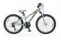 Велосипед спортивный LEON STONE (бело-зеленый)