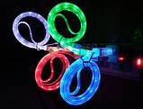 Світиться кабель USB-Lightning для iphone 5-7 ЖОВТИЙ SKU0000342, фото 2