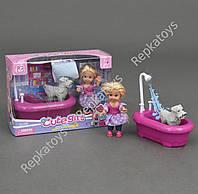 Кукла маленькая с ванной и собачкой, в коробке (ОПТОМ) K 899-16