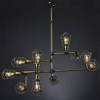 Светильник loft Vintage Industrial (Fundamental) / 10 Lamp Edison, фото 1