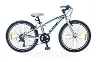 Велосипед спортивный LEON ONIX (бело-синий)