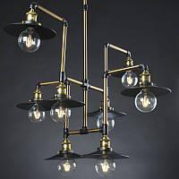 Светильник loft Vintage Industrial (Fundamental key) / 8 Lamp Edison