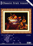Набор для вышивания крестиком натюрморт Сосуд с фруктами