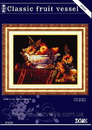 """Набор для вышивания крестиком натюрморт """"Сосуд с фруктами"""", фото 2"""