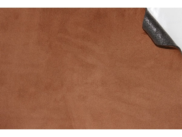 """Алькантара (на поролоне) Южная Корея светло-коричневый """"мокко"""" 90х140 см."""