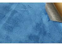 Самоклеющаяся Алькантара (на поролоне) Южная Корея голубой 90х140 см.
