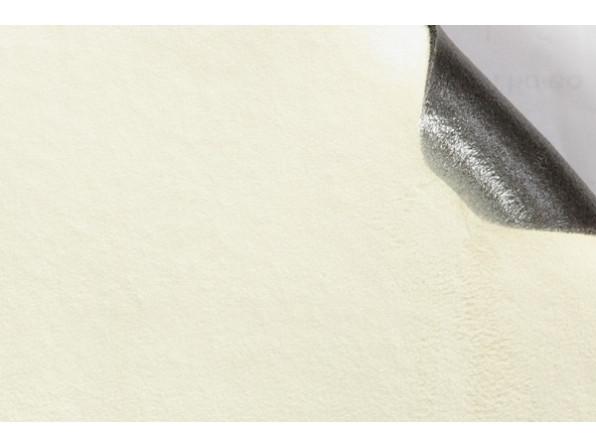 Самоклеющаяся Алькантара (на поролоне) Южная Корея белый 90х140 см.